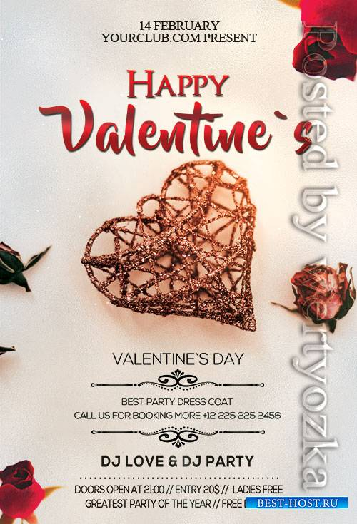 Happy Valentines Day - Premium flyer psd template