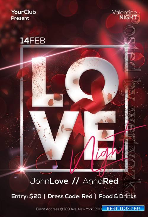 Love Night - Premium flyer psd template