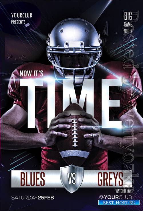 Football Time - Premium flyer psd template