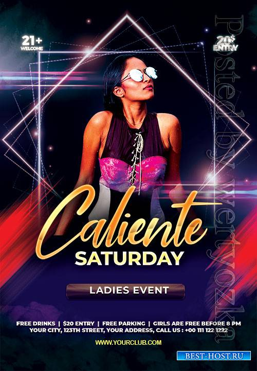 Caliente Saturday - Premium flyer psd template
