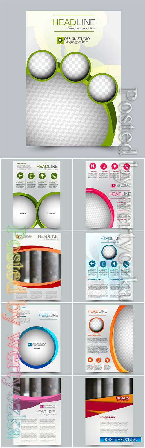 Business vector template for brochure