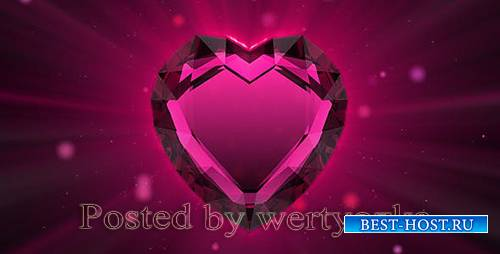 Videohive - Valentine`s ruby heart -  86216