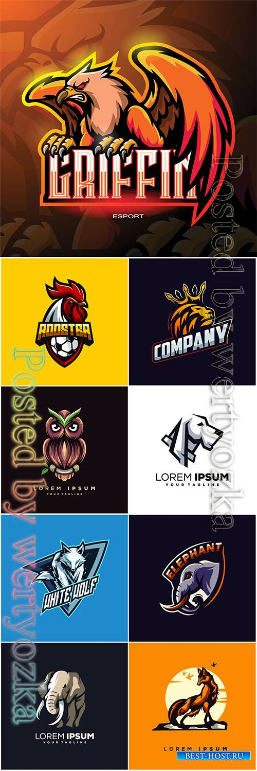 Animals logos vector illustration