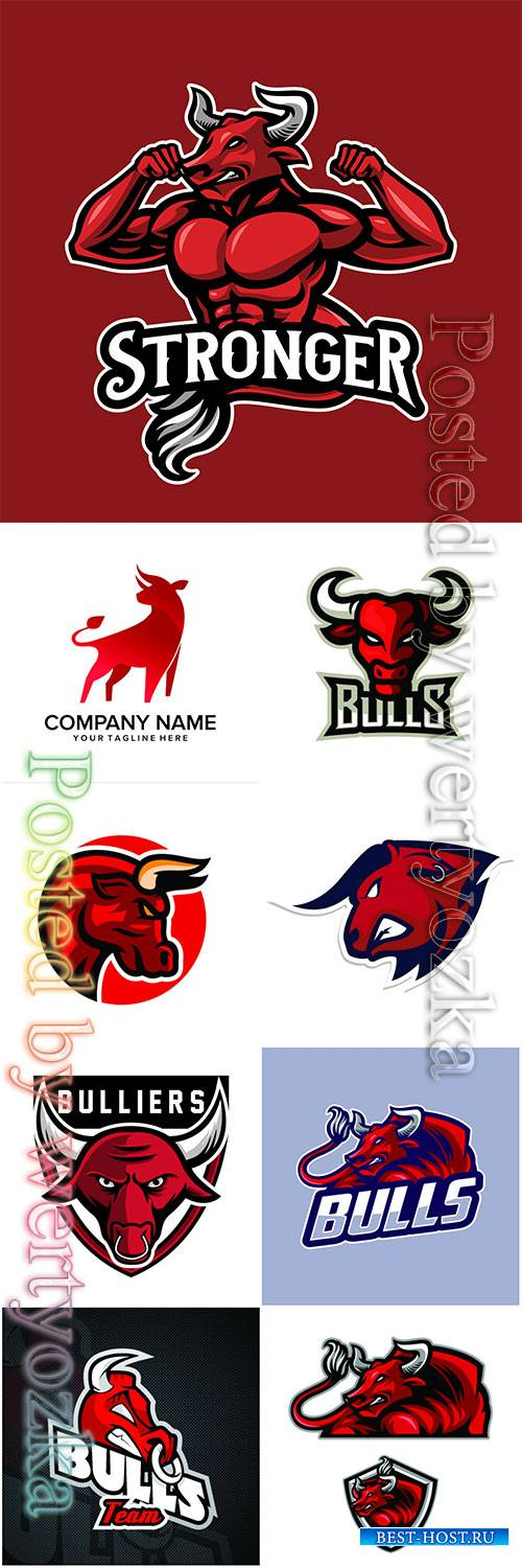 Bull logos vector illustration