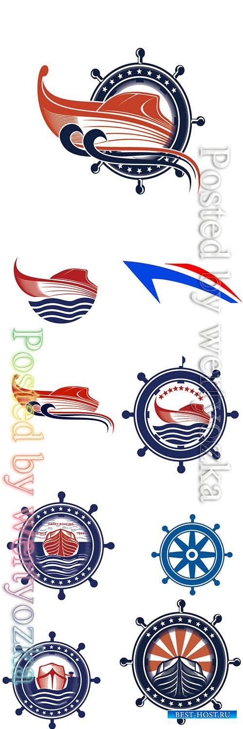 Marine logos vector illustration