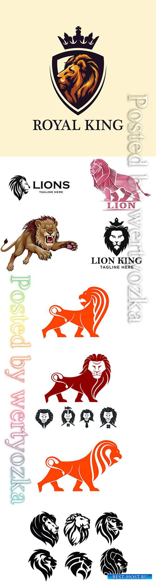 Lion logos vector illustration
