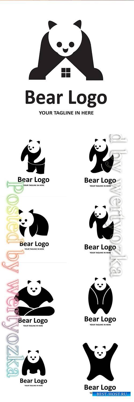 Panda vector logos illustration