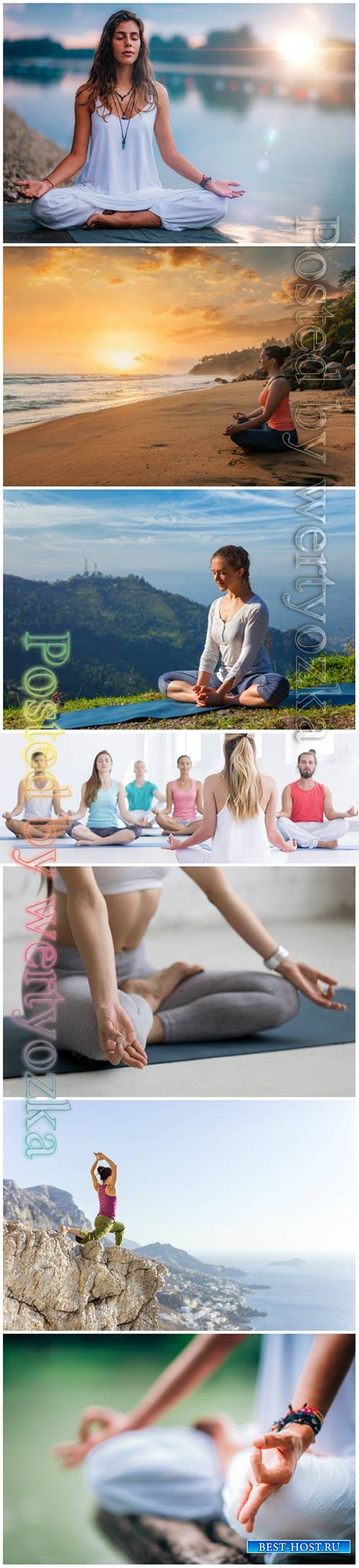 Yoga beautiful stock photo
