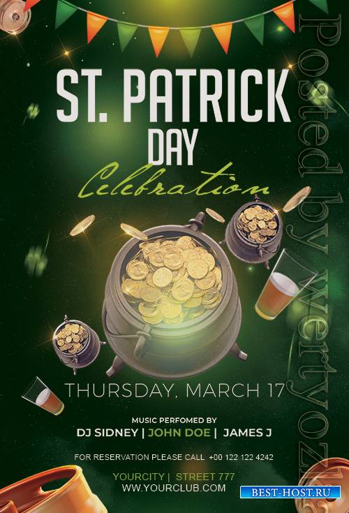 St Patrick's Day - Premium flyer psd template