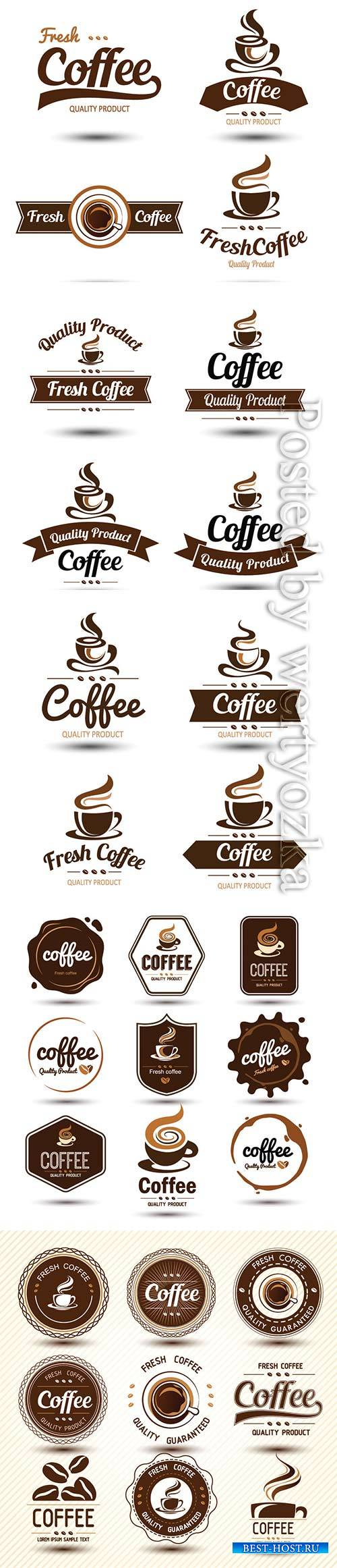 Coffee vector label
