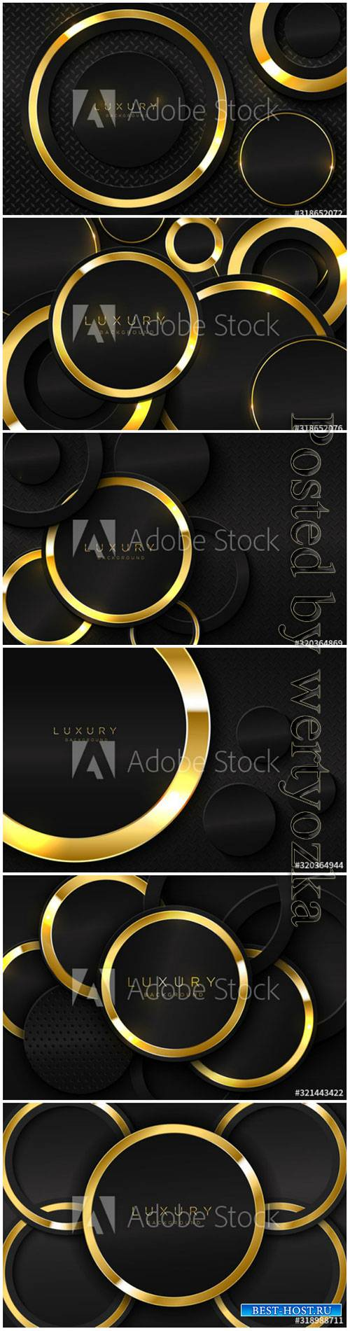 Realistic background with shiny gold ring shape