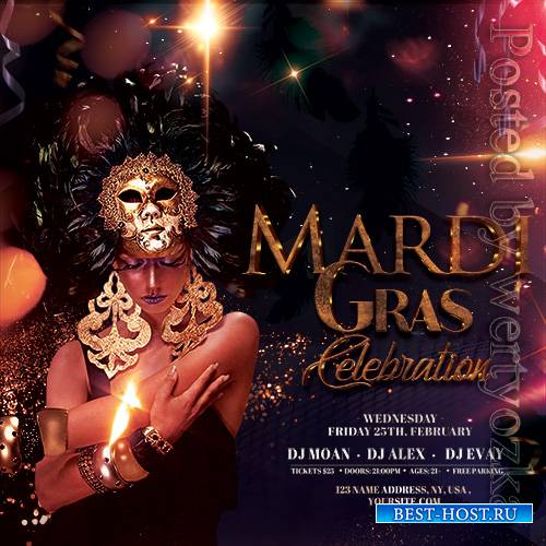 Masquerade Ball Party - Premium flyer psd template
