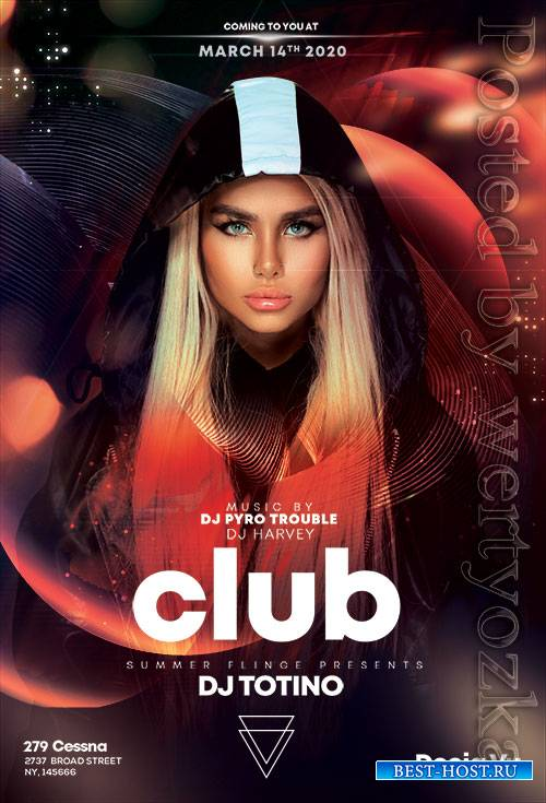 Futuristic Club Party - Premium flyer psd template