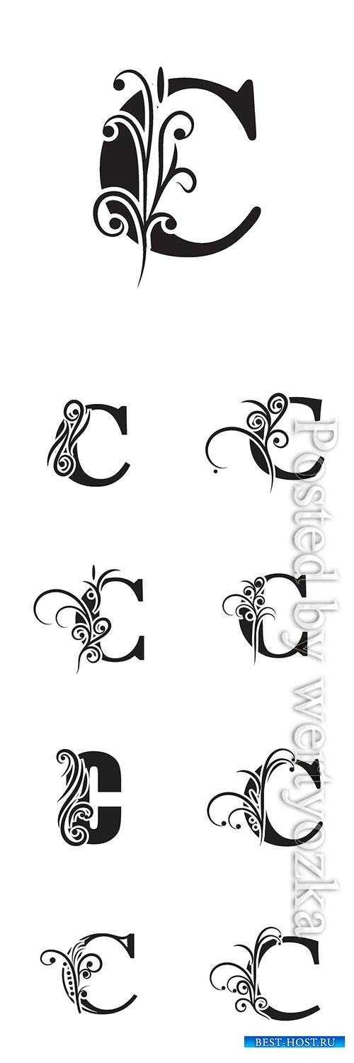Letter C logo template vector icon design