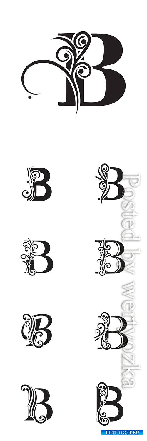 Letter B logo template vector icon design