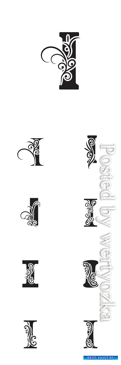 Letter I logo template vector icon design