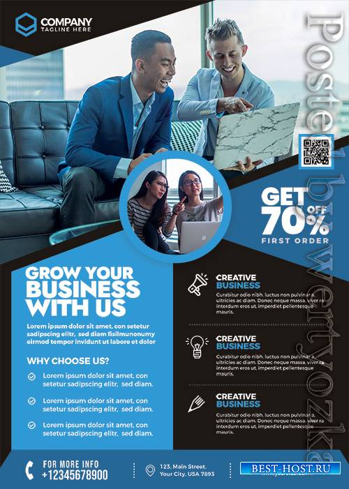 Business Corporate - Premium flyer psd template