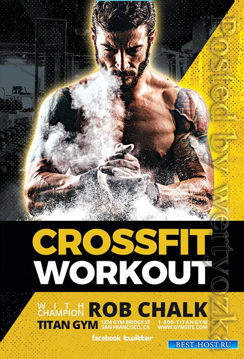 Crossfit Workout - Premium flyer psd template