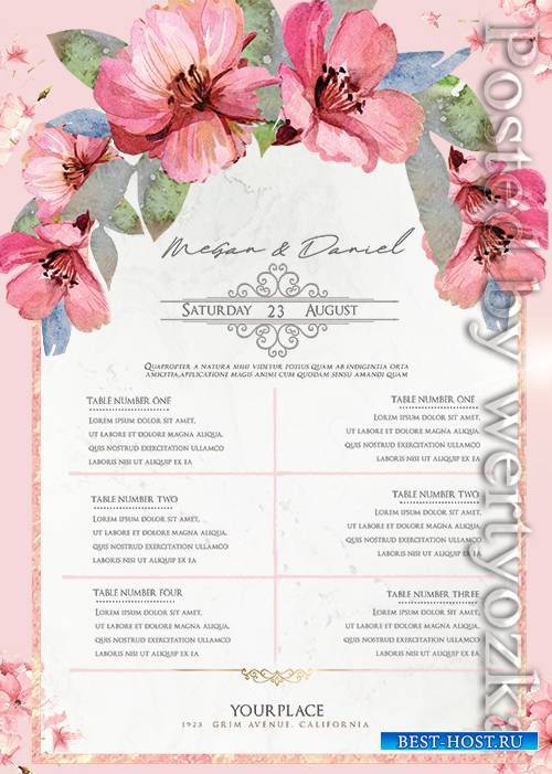 Wedding Check List - Premium flyer psd template