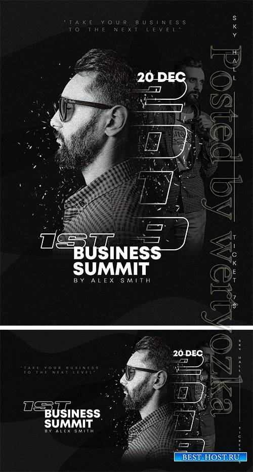 Business Summit Black - Premium flyer psd template