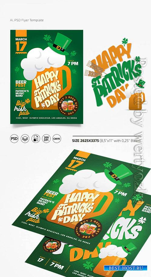 St Patrick Day - Premium flyer psd template