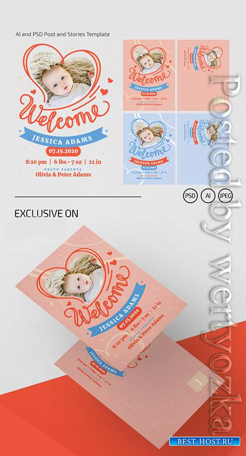 Welcome baby - Premium flyer psd template