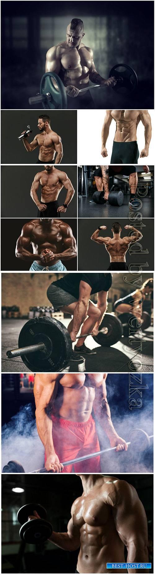 Sports men beautiful stock photo
