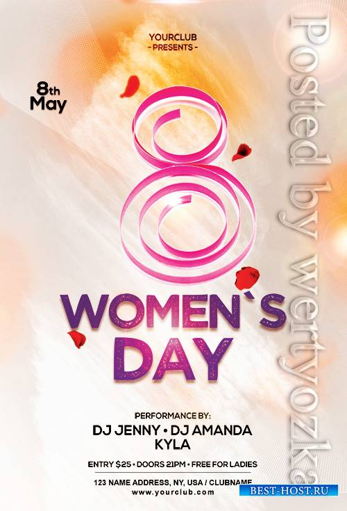 Womens Day  - Premium flyer psd template