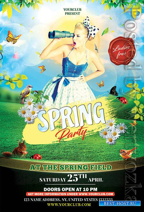 Spring Party - Premium flyer psd template