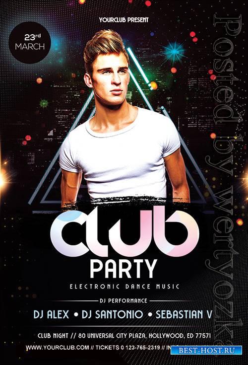 Club Event - Premium flyer psd template