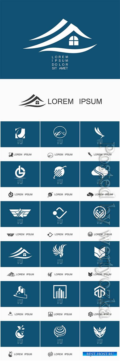 Logos in vector, business icons, emblems, labels # 4