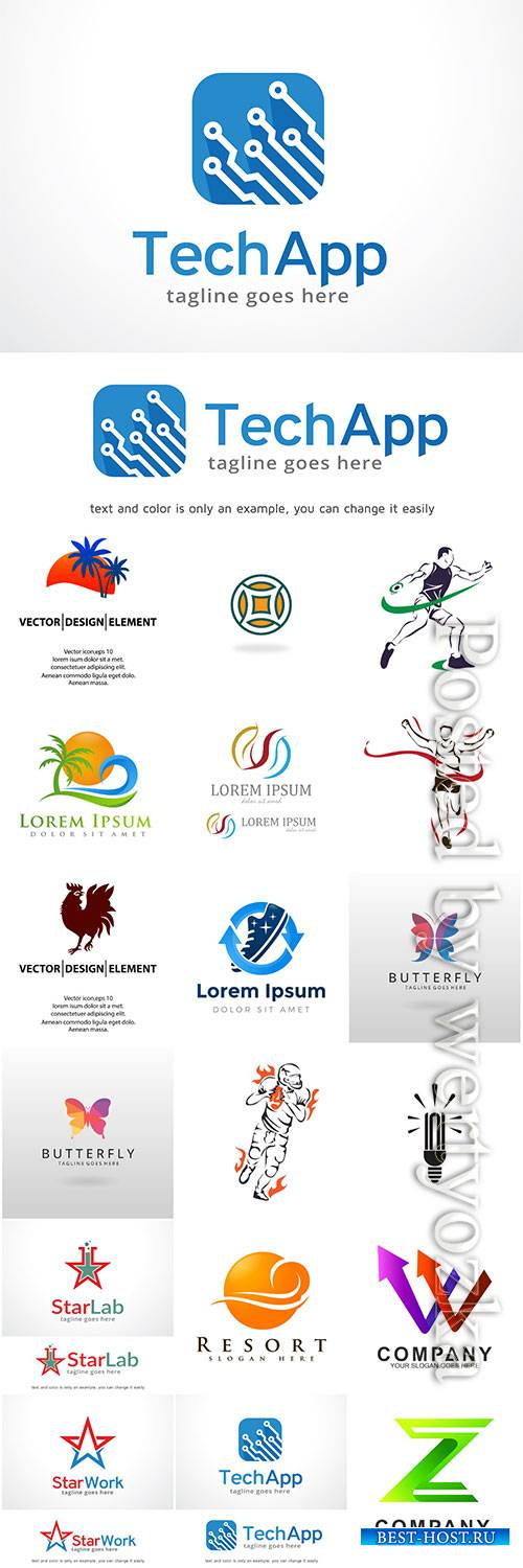 Logos in vector, business icons, emblems, labels # 2