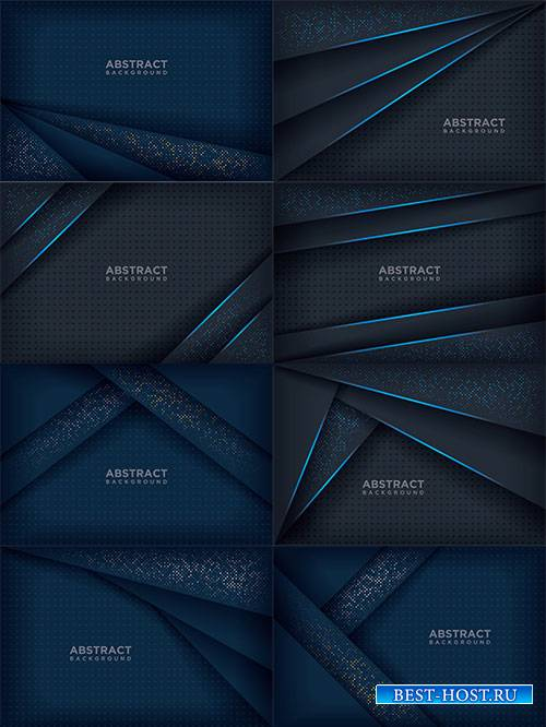 Синие фоны в векторе / Blue backgrounds in vector