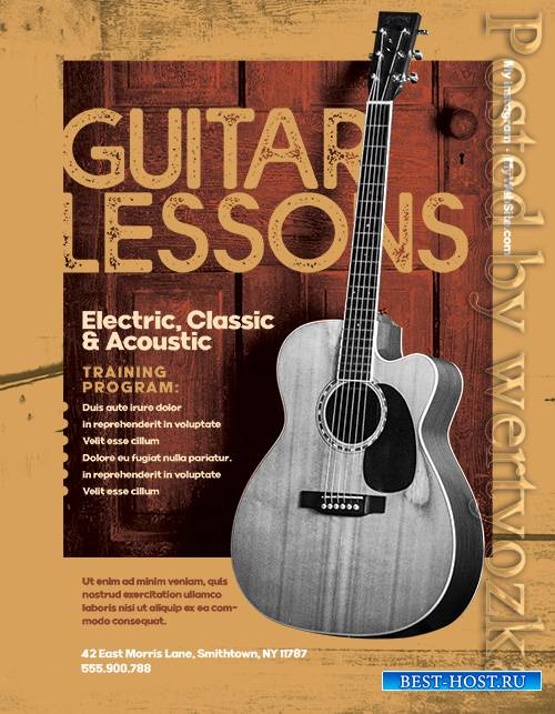 Guitar lessons - Premium flyer psd template