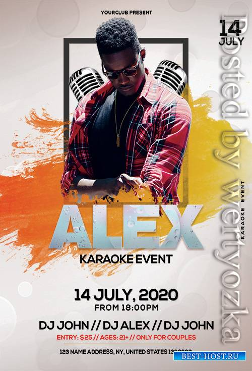 Karaoke Event - Premium flyer psd template