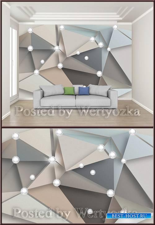 3D psd background wall modern creative mosaic