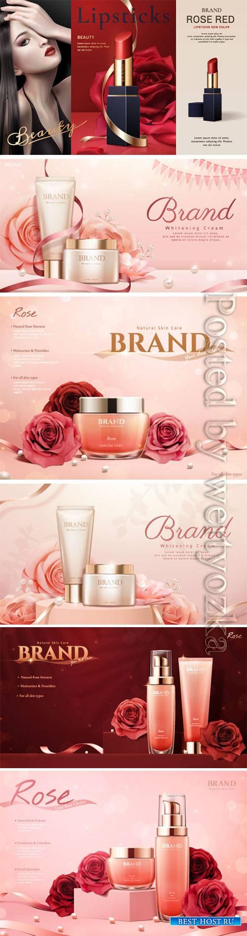 Cosmetics advertising posters, beautiful girl # 4