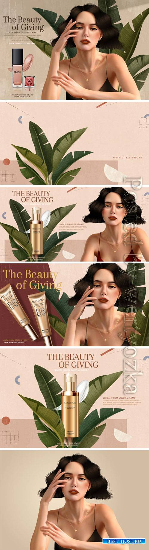 Cosmetics advertising posters, beautiful girl # 2