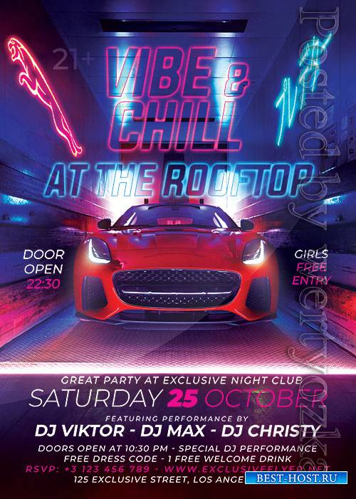 Vibe and chill - Premium flyer psd template