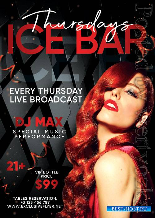 Ice bar thursdays - Premium flyer psd template