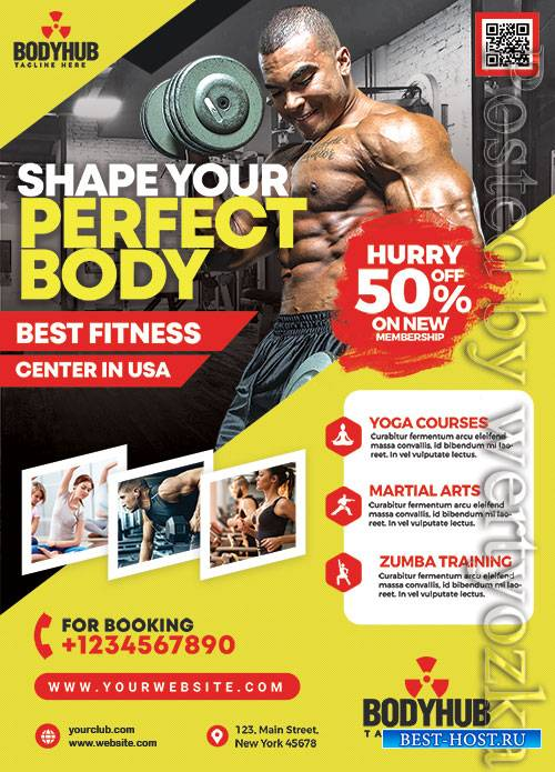 Gym Promotion - Premium flyer psd template