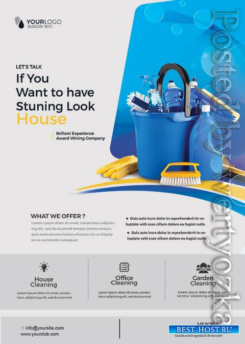 Cleaning Service - Premium flyer psd template