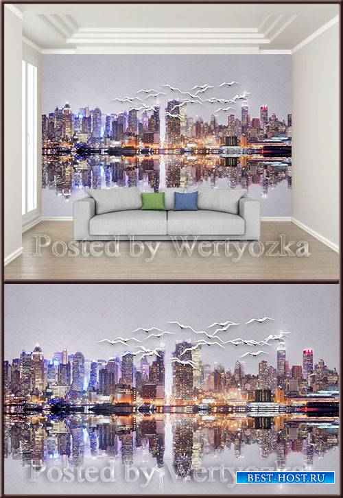 3D psd background wall nordic style colorful relief urban