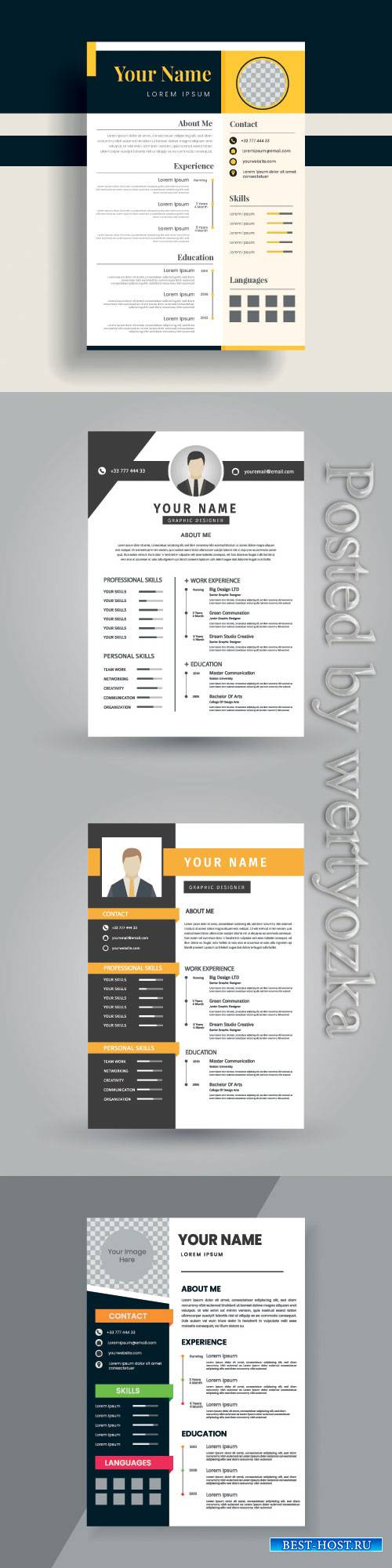 Resume vector template