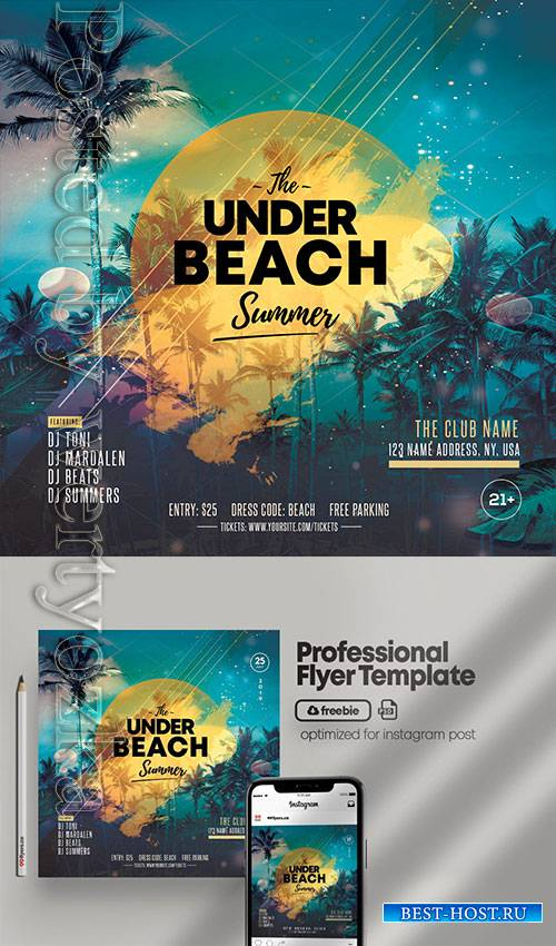 Summer Night Party - Premium flyer psd template