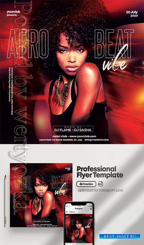 Afro Beat Party - Premium flyer psd template
