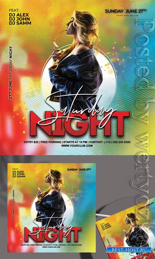 Saturday Night - Premium flyer psd template