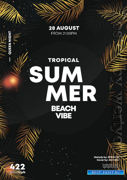 Summer gold - Premium flyer psd template