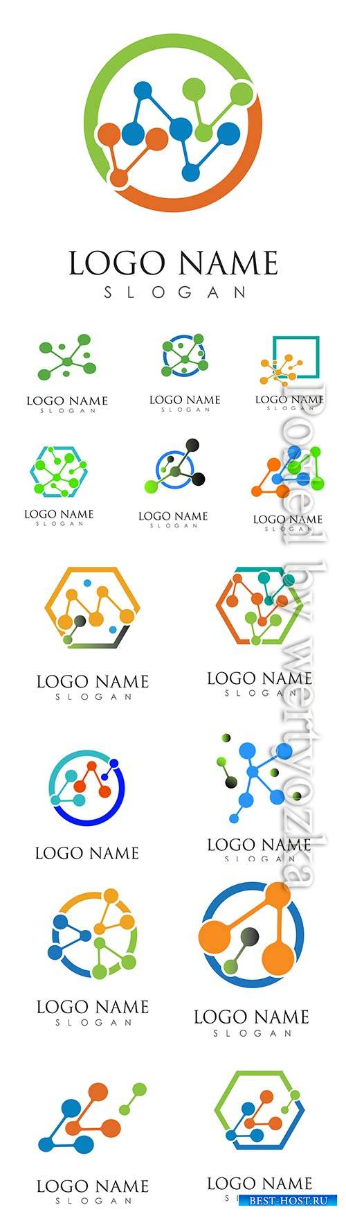Molecule logo vector icon illustration design template