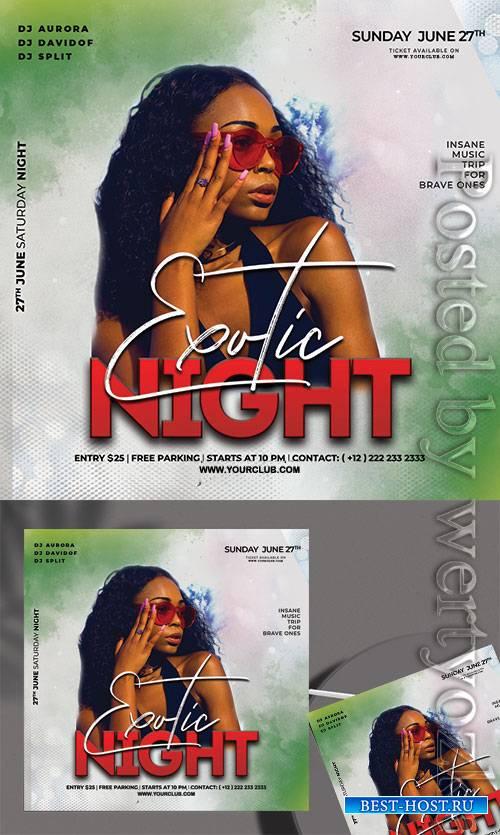 Exotic Night - Premium flyer psd template